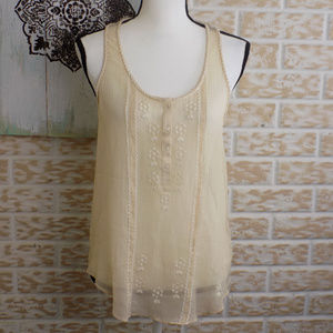 🌺Aerie sheer cream color Top